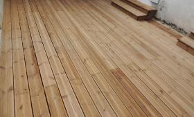 Terrasse bois en sapin à Royan 17200